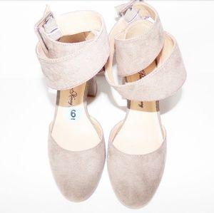 Grey sway heels